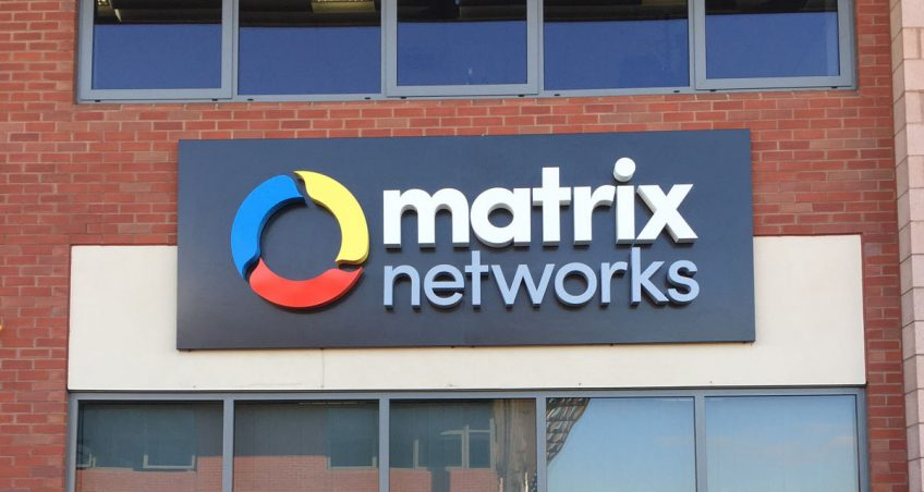 Exterior Illuminated Sign for Matrix Networks