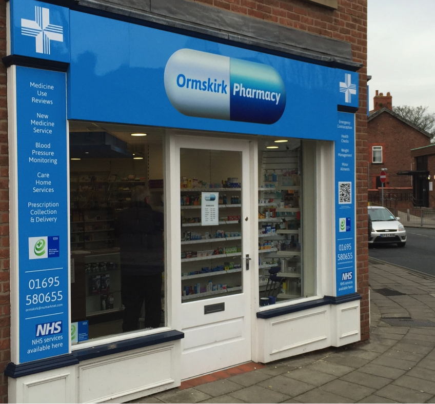 Ormskirk Pharmacy Signs