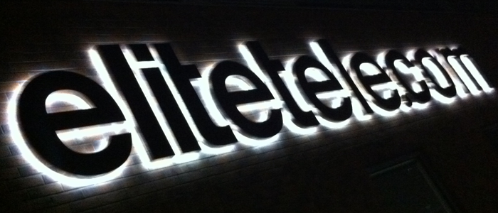 Elitetele.com – Stainless Steel LED Internally Illuminated Letters