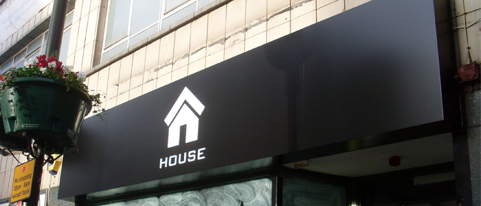 House Internally Illuminated Fascia Sign